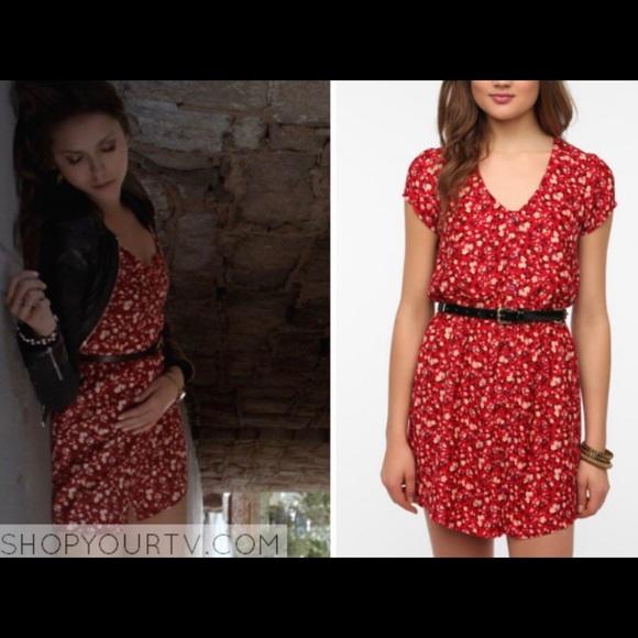6625d1c65a6e Kimchi Blue Dresses & Skirts - Kimchi Blue floral shirt dress ASO Elena  Gilbert